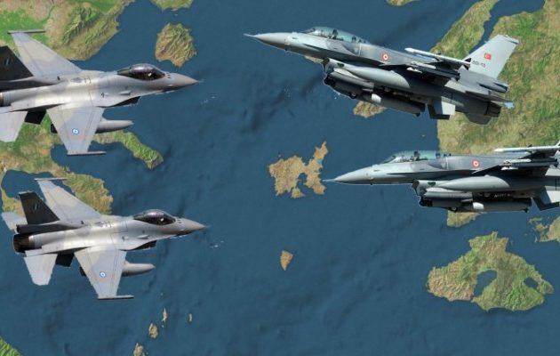 Εμπλοκή με οπλισμένα τουρκικά αεροσκάφη στο Αιγαίο