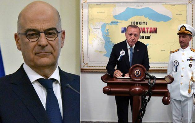 Δένδιας: Απομονωμένος «ταραξίας της περιοχής» η Τουρκία – Οργή για τη «Γαλάζια Πατρίδα»