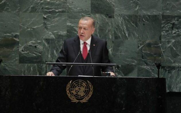 Ερντογάν στον ΟΗΕ: Δική μας η μισή Κύπρος – Δικά μας και τα μισά κοιτάσματα