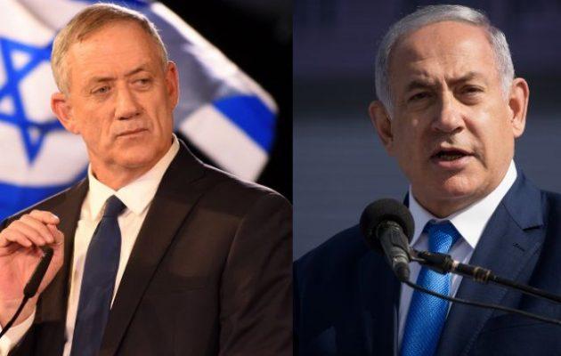 Ισοπαλία (ξανά) στις εκλογές στο Ισραήλ – Νετανιάχου-Γκαντς θα συνεργαστούν;