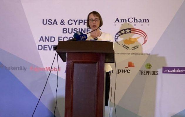 Τζούντιθ Γκάρμπερ: «Αμερικανική και κυπριακή εθνική ασφάλεια άρρηκτα συνδεδεμένες»