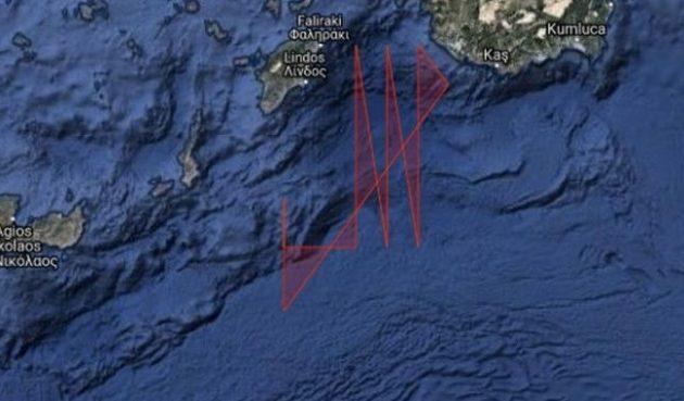 Προκαλεί η Τουρκία: Νέα NAVTEX από την Ρόδο μέχρι την Κρήτη