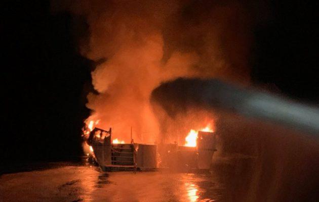 Ναυτική τραγωδία στην Καλιφόρνια: Τουλάχιστον 34 νεκροί από φωτιά σε σκάφος