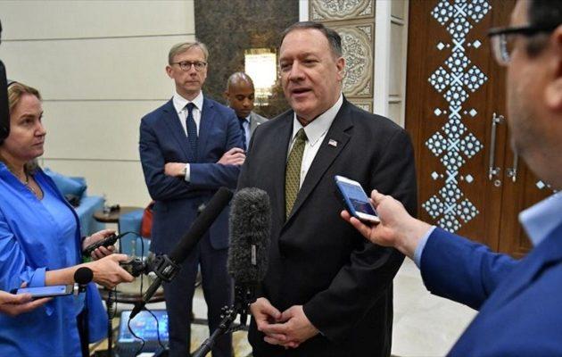 Πόμπεο: Θέλουμε ειρηνική λύση με το Ιράν