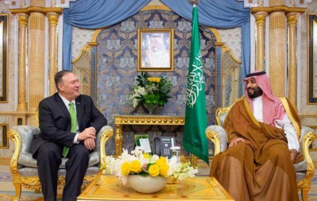 Πομπέο σε πρίγκιπα Μοχάμεντ: Η συμπεριφορά του Ιράν «δεν θα γίνει ανεκτή»