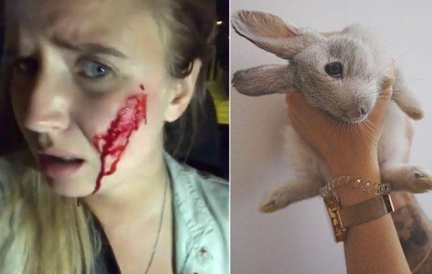 Βίγκαν έκανε επιδρομή σε φάρμα να «σώσει» κουνέλια και της έριξαν με καραμπίνες (βίντεο)