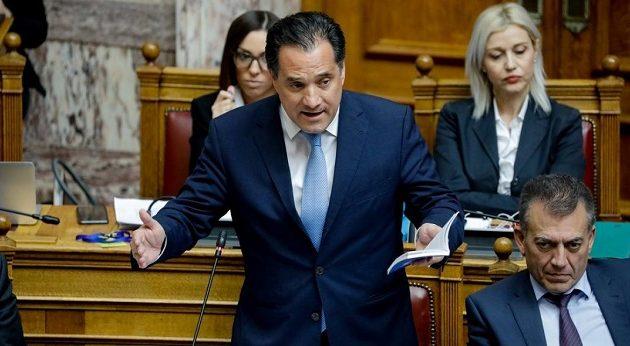 Το «κεφάλι» του Άδωνι Γεωργιάδη ζητά ο ΣΥΡΙΖΑ από τον Μητσοτάκη