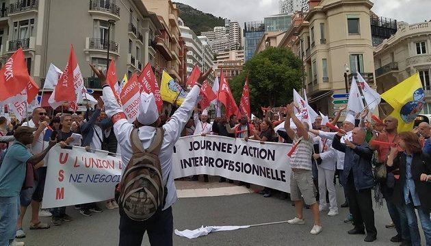 Συνδικαλιστές του ΠΑΜΕ διαδήλωσαν στο Μονακό (φωτο)