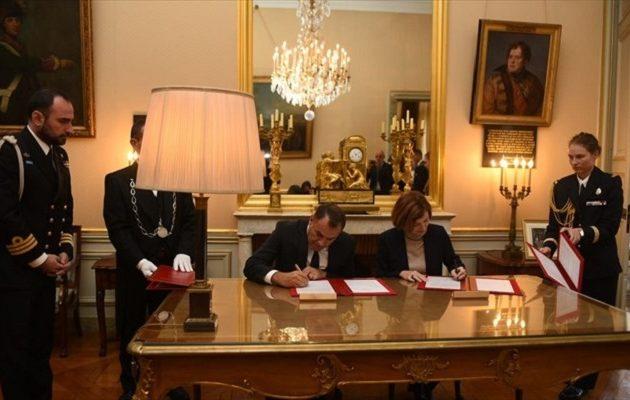 Στο Παρίσι ο Παναγιωτόπουλος: Υπέγραψε δήλωση πρόθεσης για γαλλικές φρεγάτες