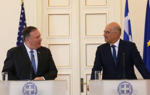 Νίκος Δένδιας: «Οι ελληνοαμερικανικές σχέσεις σήμερα βρίσκονται στο ιστορικό τους απόγειο»