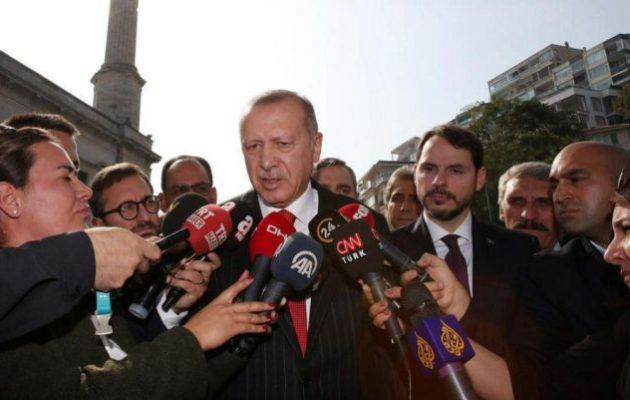 Άνοιξε η όρεξη Ερντογάν: Θέλει να καταλάβει όλη τη Συρία ανατολικά του Ευφράτη – «Έχω τον Τραμπ του χεριού μου»