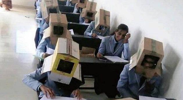 Έβαλαν… κούτα στο κεφάλι φοιτητών για να μην αντιγράψουν στις εξετάσεις