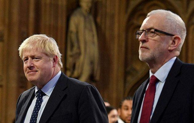 12 μονάδες προηγείται ο Τζόνσον παραμονές των βρετανικών εκλογών