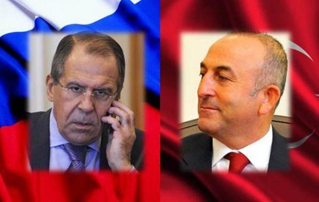 Ο Τσαβούσογλου τηλεφώνησε στον Λαβρόφ να συνεννοηθούν για Συρία και Βαλκάνια
