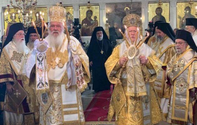Ο Οικ. Πατριάρχης εξέφρασε την ικανοποίησή του για την αναγνώριση του Αυτοκεφάλου της Ουκρανίας από την Ελλάδα