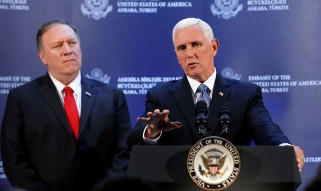 Τι συμφώνησαν Αμερικανοί και Τούρκοι για εκεχειρία στη Συρία – Δηλώσεις Πενς