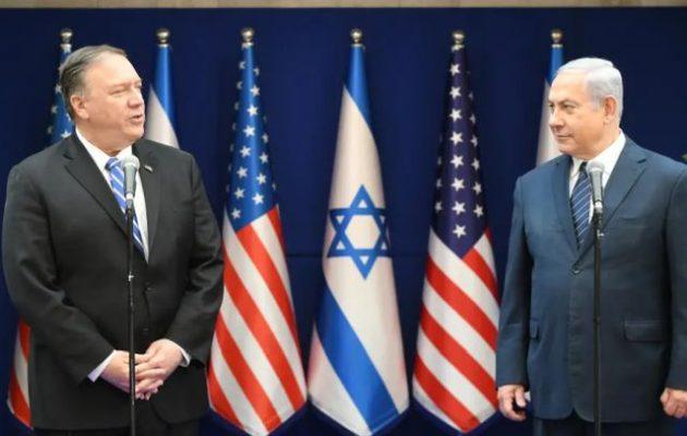 Δίωρη συνάντηση είχε ο Πομπέο με τον Νετανιάχου με θέμα τη Μέση Ανατολή