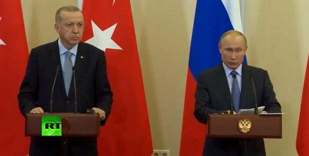 Πούτιν και Ερντογάν συμφώνησαν για νέα εκεχειρία στη Συρία