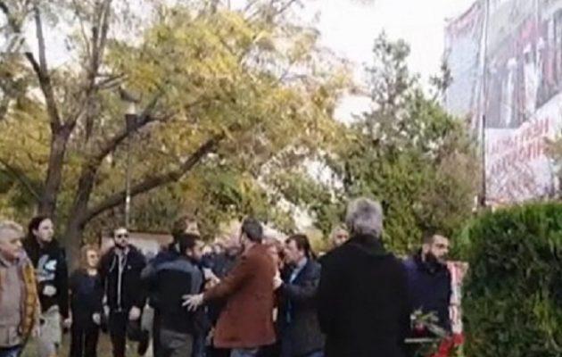 Ένταση στην Πολυτεχνική Σχολή του ΑΠΘ: Κατέστρεψαν το στεφάνι του ΣΥΡΙΖΑ