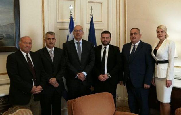 Ο Νίκος Δένδιας συναντήθηκε στο ΥΠΕΞ με Έλληνες της Αλβανίας