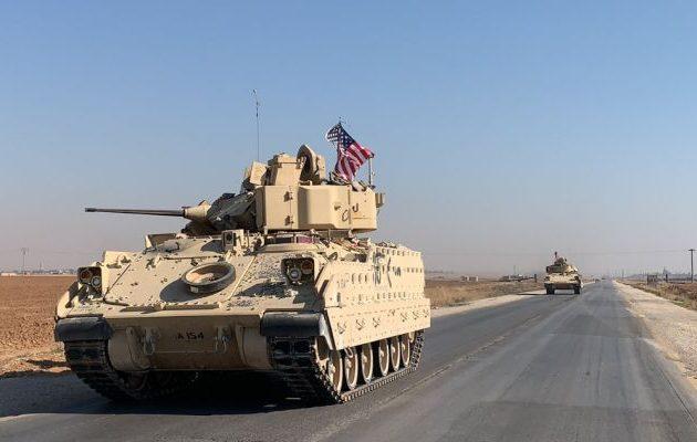 Αμερικανικά τανκς «Bradley» στη Β/Α Συρία με κατεύθυνση την Κομπάνι (βίντεο+φωτο)