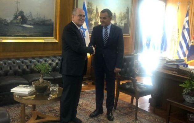 Παναγιωτόπουλος και Πρέσβης του Ισραήλ: Αμοιβαία κατανοητή γεωπολιτική αξία της αμυντικής συνεργασίας