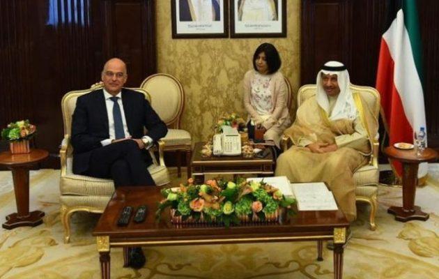 Ο Νίκος Δένδιας στο Κουβέιτ συναντήθηκε με πρωθυπουργό, πρόεδρο Βουλής και ΥΠΕΞ