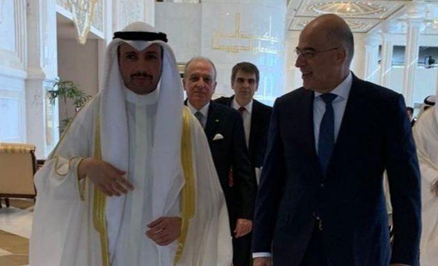 Στο Κουβέιτ ο Νίκος Δένδιας – Συζήτησε με τον πρόεδρο της Βουλής τις περιφερειακές εξελίξεις
