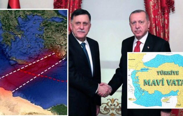 Ο Ερντογάν συμφώνησε με τους υπό κατάρρευση τζιχαντιστές της Λιβύης οριοθέτηση ΑΟΖ
