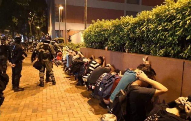 Την «αδικαιολόγητη χρήση βίας» στο Χονγκ Κονγκ καταδικάζει η αμερικανική κυβέρνηση