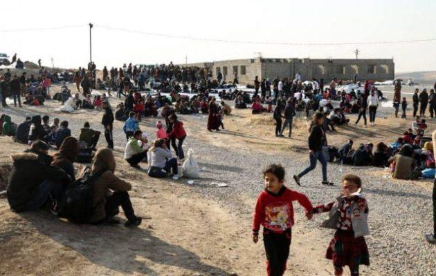 Περισσότεροι από 14.000 πρόσφυγες στο ιρακινό Κουρδιστάν εξαιτίας της τουρκικής εισβολής στη Β/Α Συρία