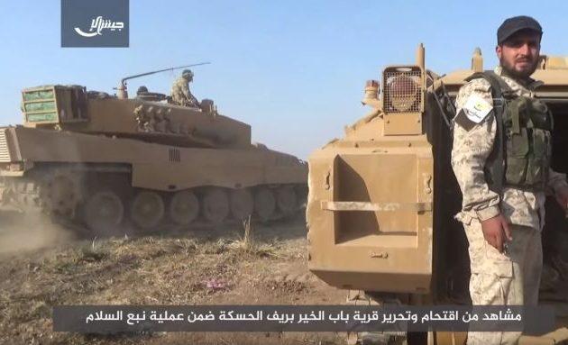Η Τζαΐς Αλ Ισλάμ επιτίθεται στους Κούρδους με Leopard – Γερμανικά τανκς στο πλευρό των τζιχαντιστών