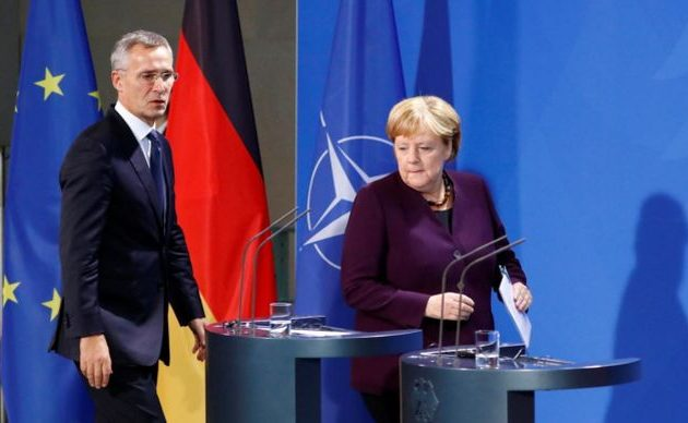 Η Μέρκελ δεν θεωρεί το ΝΑΤΟ «εγκεφαλικά νεκρό» όπως το αποκάλεσε ο Μακρόν