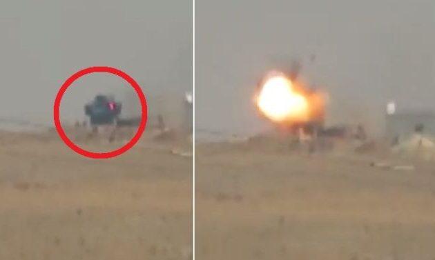 Οι Κούρδοι (SDF) ανατίναξαν τεθωρακισμένο του τουρκικού στρατού (βίντεο)