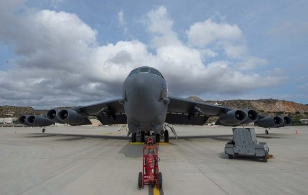 Στη Σούδα για πρώτη φορά το αμερικανικό βομβαρδιστικό Β-52