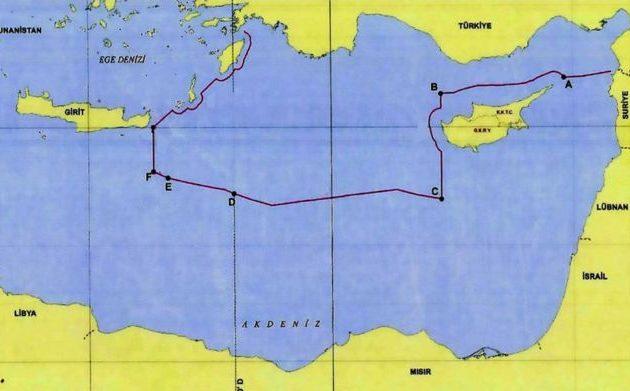 Τούρκος αξιωματούχος ανάρτησε χάρτη με την τουρκική θάλασσα στην Αν. Μεσόγειο
