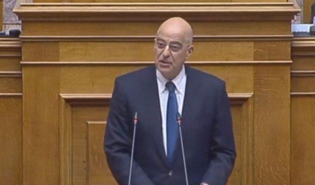 Εθνικά ο Δένδιας στη Βουλή: «Η απραξία δε συνιστά πολιτική» – Επισκέπτεται τους Άραβες συμμάχους μας