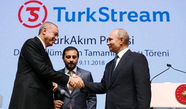 Στις 8 Ιανουαρίου 2020 «πανηγύρι» Ερντογάν με Πούτιν για τον Turkish Stream