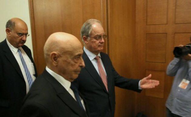 Ιστορική στιγμή: Στην Αθήνα ο Πρόεδρος της Βουλής της Λιβύης
