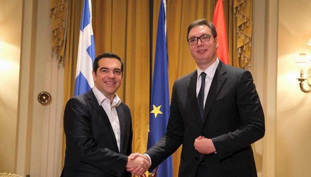 Ο Τσίπρας είδε Βούτσιτς – «Σεβασμός του διεθνούς δικαίου για ειρήνη στα Βαλκάνια»