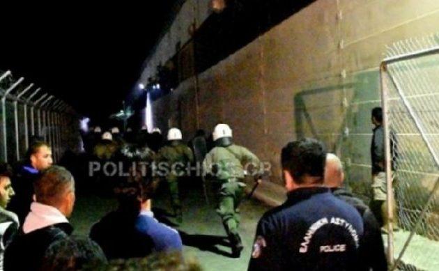 Χίος: Επεισόδια μεταξύ Αφγανών και Αράβων – Τρεις τραυματίες, ο ένας αστυνομικός