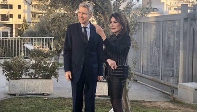 Ο Τζέφρι Πάιατ συναντήθηκε με τη Γιάννα Αγγελοπούλου