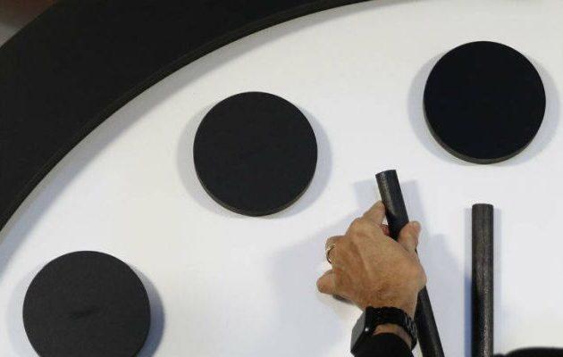 100 δευτερόλεπτα πριν το τέλος δείχνει το Ρολόι της Αποκάλυψης