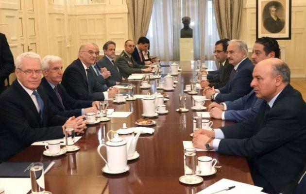 Δένδιας-Χαφτάρ: Συμφωνήσαμε σε όλα – Έτοιμοι να αναπτύξουμε δυνάμεις στη Λιβύη