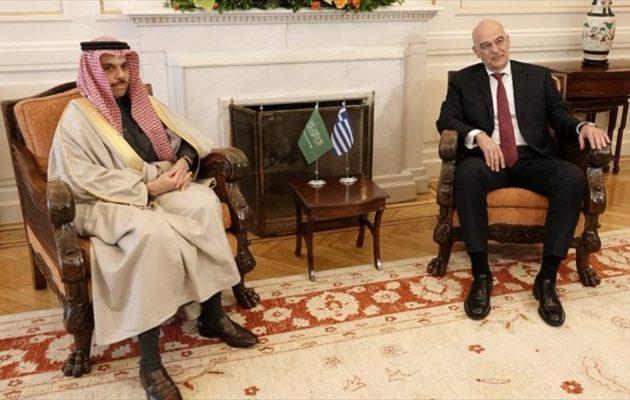 Δένδιας: Κοινή αντίληψη με Σ. Αραβία για τα άκυρα και ανύπαρκτα μνημόνια Άγκυρας-Τρίπολης
