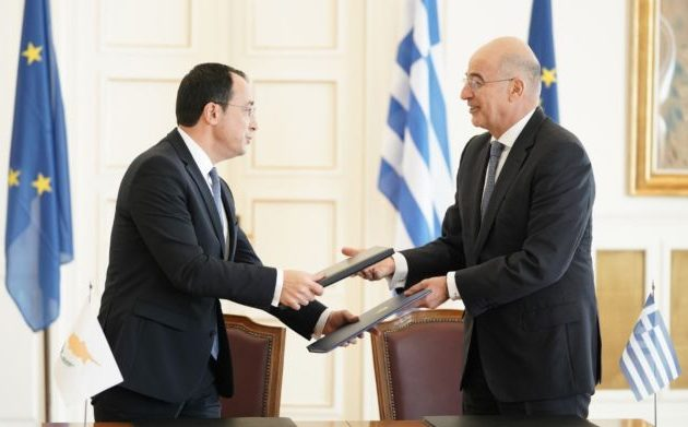 Δένδιας και Χριστοδουλίδης υπέγραψαν τεχνική συνεργασία μεταξύ ΥΠΕΞ Ελλάδας και Κύπρου