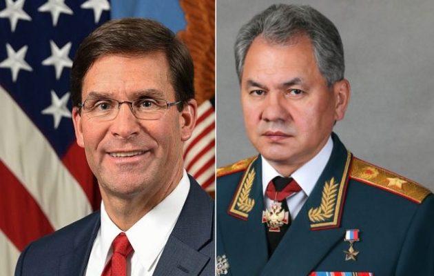 Οι υπουργοί Άμυνας των ΗΠΑ και της Ρωσίας συνομίλησαν για τη Μέση Ανατολή