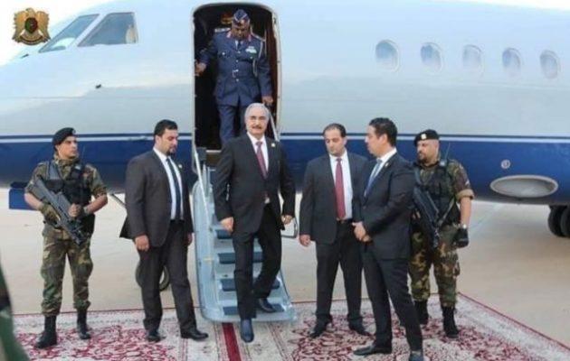 Χαφτάρ σε Μόσχα: Απορρίπτω την Τουρκία ως μεσολαβητή στη Λιβύη