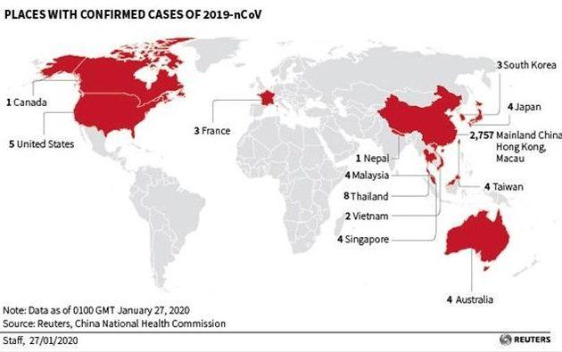 Κοροναϊός: Σε ποιες χώρες έχουν αναφερθεί κρούσματα
