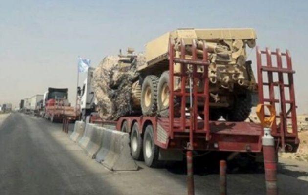 Μεγάλη φάλαγγα 100 φορτηγών εισήλθε στη Συρία με αμερικανική στρατιωτική βοήθεια στους Κούρδους